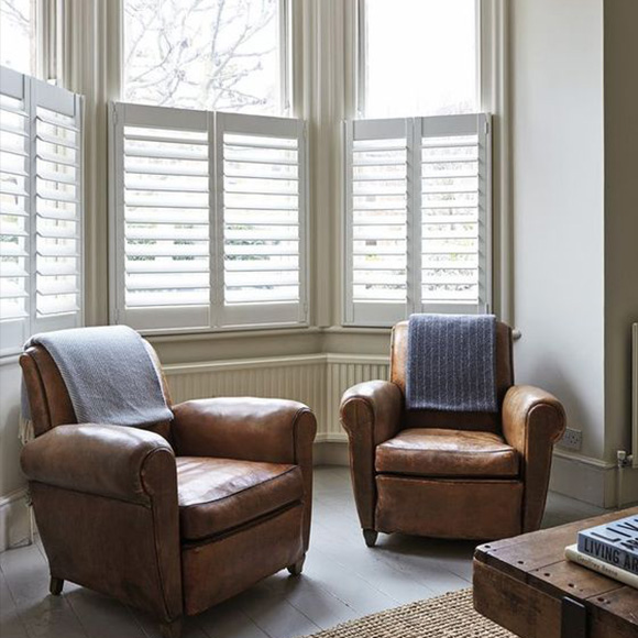 Cafe Style Shutters in Brighton Living Room by Shutterly Fabulous
