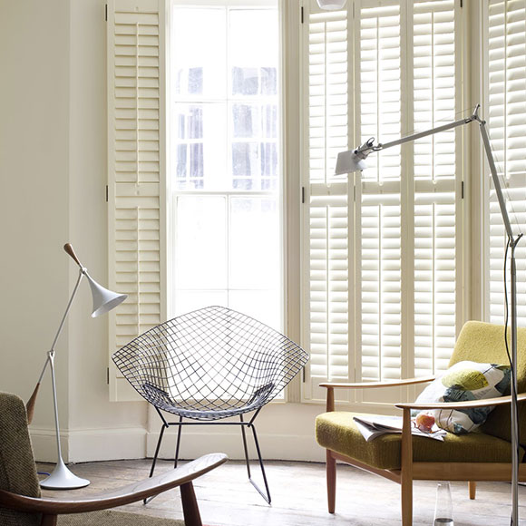 ceiling to floor shutters in cream by shutterly fabulous